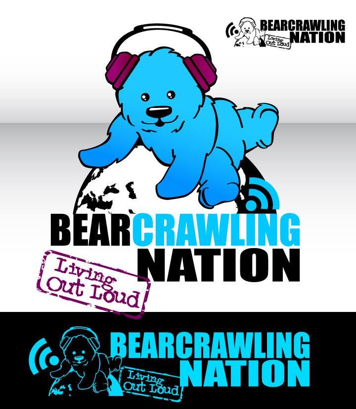 Kilpailutyö #                                        94                                      kilpailussa                                         Icon Design for BearCrawling Nation