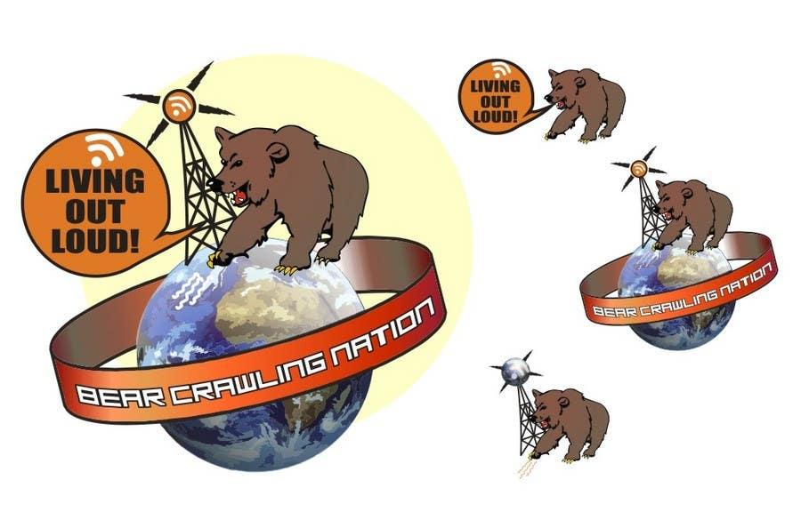 Kilpailutyö #                                        33                                      kilpailussa                                         Icon Design for BearCrawling Nation