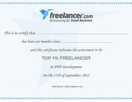 #11 for Design Freelancer.com's new Achievement Certificate by jobee