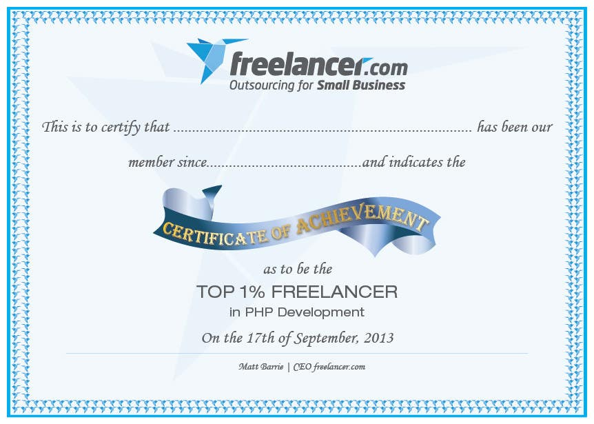 entry 14 by jobee for design freelancer com s new achievement