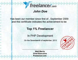 sharpBD tarafından Design Freelancer.com's new Achievement Certificate için no 13