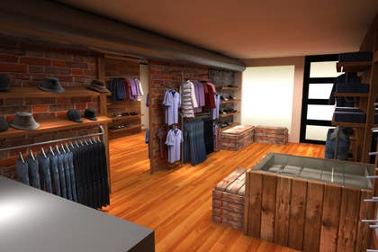 nº 11 pour Interior design of men's clothing and shoe store par sharkgraphics