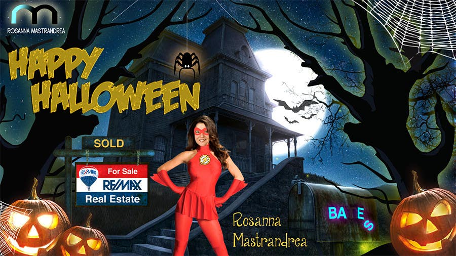 #20 for Design a Halloween postcard for a real estate agent by annahavana