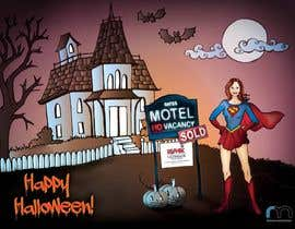 #27 para Design a Halloween postcard for a real estate agent por elenabsl