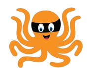 Illustration soutěžní návřh č. 11 do soutěže Design a bandit mask wearing octopus!