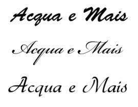 #2 for Acqua e Mais -> is the name of the company. please follow the style on the image attached by sohelrana24