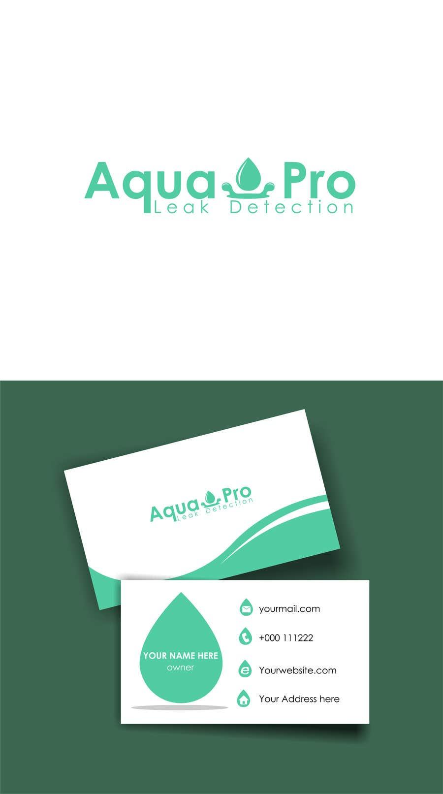 Contest Entry #31 for Design a Logo and Business Card for a Leak Detection Company for Water Leaks (Similar to Plumber) Up to 2 Winners