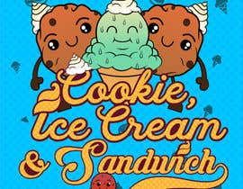 #17 for Cookie iceacream sandwich logo designed. In pop art/ comic theme by Bateriacrist