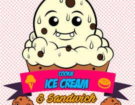 #37 for Cookie iceacream sandwich logo designed. In pop art/ comic theme by Bateriacrist