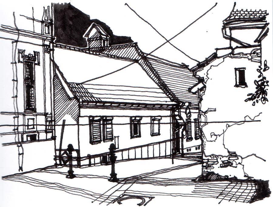 Kilpailutyö #25 kilpailussa B&W Pen & Ink Drawings of Cityscapes Wanted