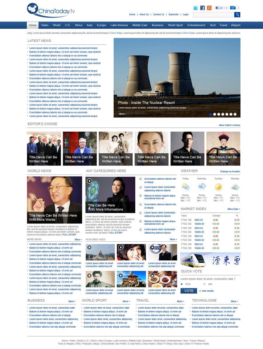 Konkurrenceindlæg #                                        42                                      for                                         Website Design for TodayChina.TV