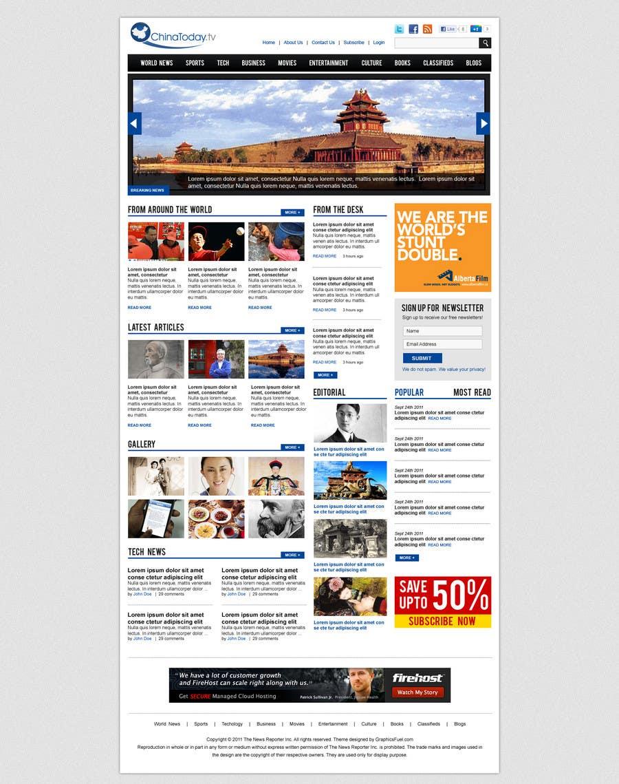 Конкурсная заявка №29 для Website Design for TodayChina.TV