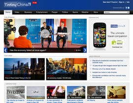 cameolis tarafından Website Design for TodayChina.TV için no 4