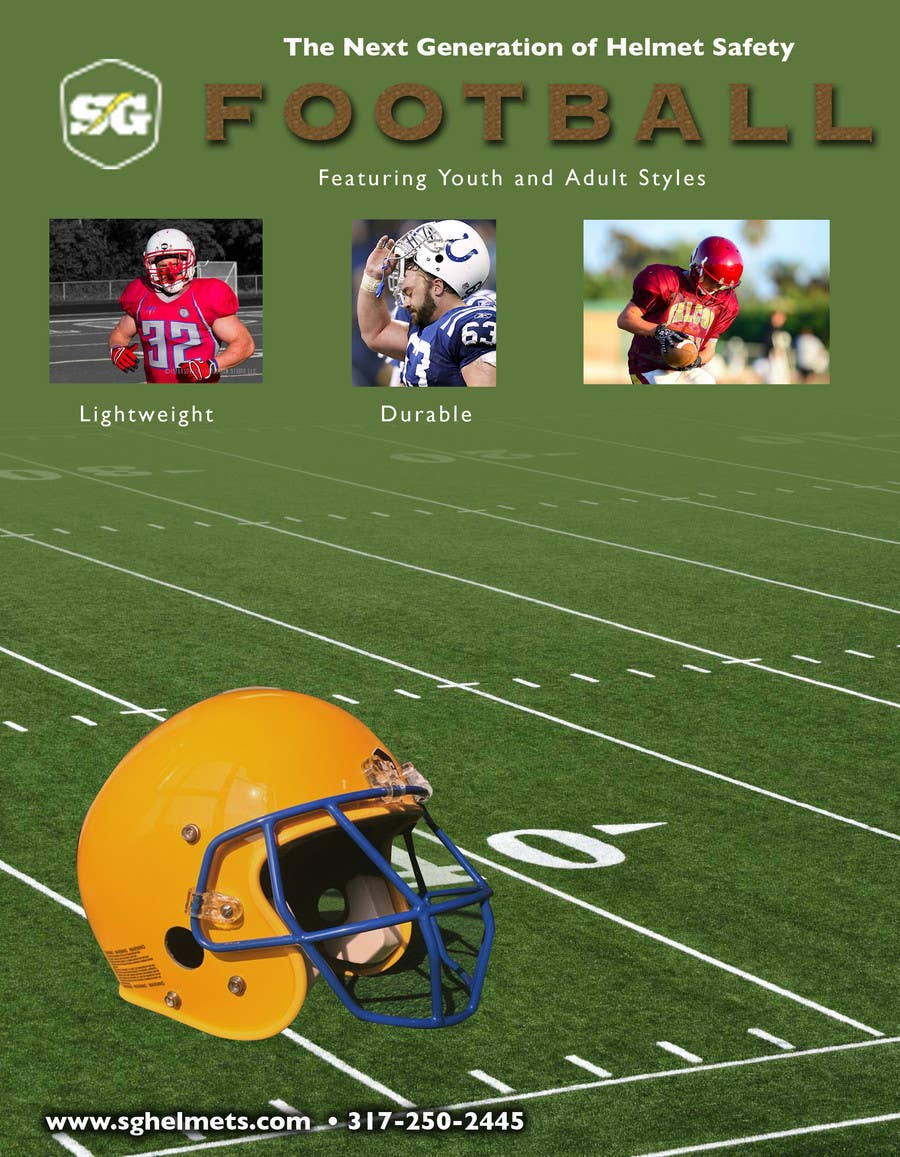 #4 for Design a Brochure for Football Helmets by RawUmber