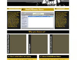 #12 for Design a Website Mockup for welloffbeats.com - repost af mishok123