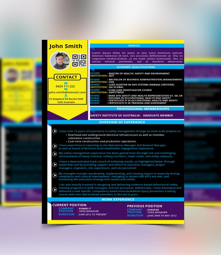 Entry #23 by mahabubkhl for Creative Resume Design Layout