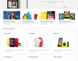 #37 untuk Design a Website Mockup for Nokia Online Shop - repost oleh patil1987