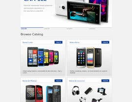 #71 for Design a Website Mockup for Nokia Online Shop - repost af atularora