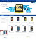 #130 for Design a Website Mockup for Nokia Online Shop - repost by saketmishra01