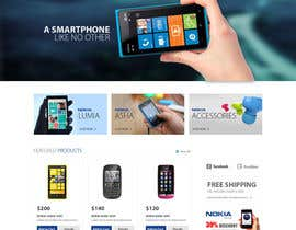 #56 for Design a Website Mockup for Nokia Online Shop - repost af mdmonirhosencit