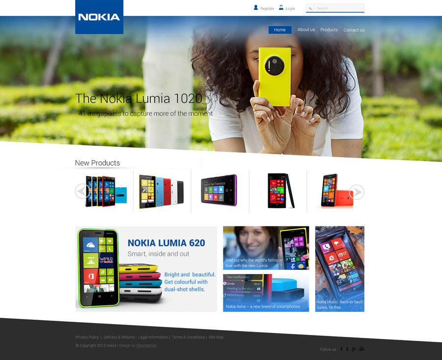 #53 for Design a Website Mockup for Nokia Online Shop - repost by dezcreation
