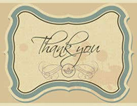 #56 untuk Design some Stationery for a Corporate Thank you card oleh graphics15