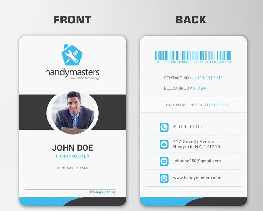 Id Card. Contest Entry #14 For Business Card And Id Card Design ...