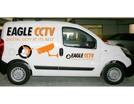 #4 para EagleCCTV Vehicle Branding Design por rogerweikers