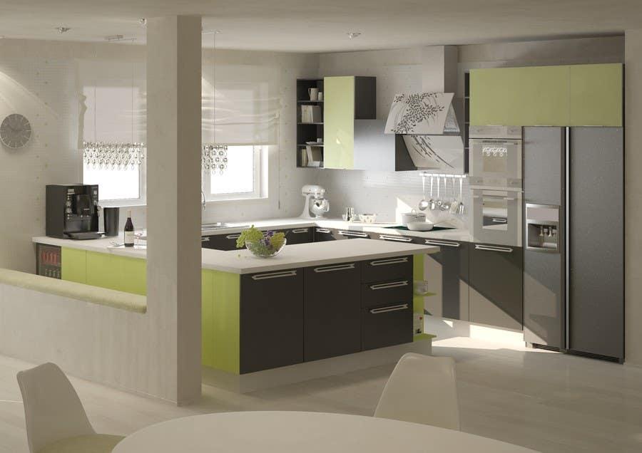 Entry 21 By Bonsilv For Kitchen Design Freelancer