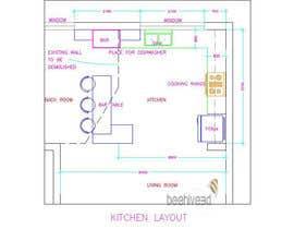 nº 11 pour Kitchen Design par beehive3dworks
