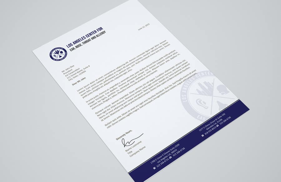 Entry  By Ezesol For Medical Office Corporate Letterhead  Freelancer