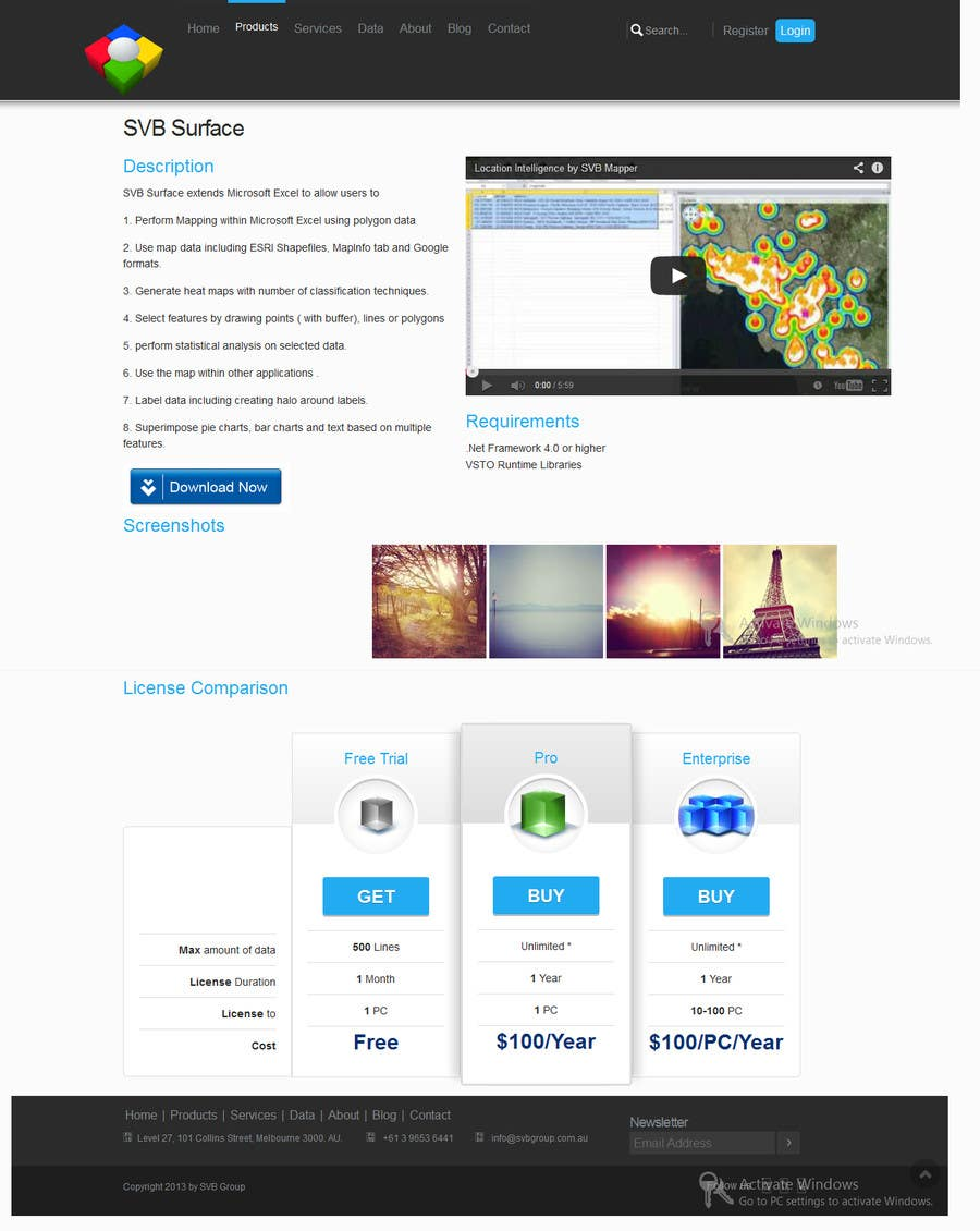 #4 for Software Pricing and Feature Presentation Page with Graphics by codeunderground