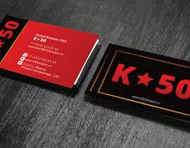 Nro 44 kilpailuun Business cards design for K50 (Разработка визитных карточек) käyttäjältä linokvarghese