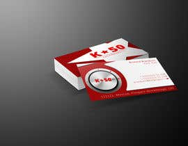 #32 untuk Business cards design for K50 (Разработка визитных карточек) oleh nishantbala