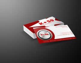 Nro 32 kilpailuun Business cards design for K50 (Разработка визитных карточек) käyttäjältä nishantbala