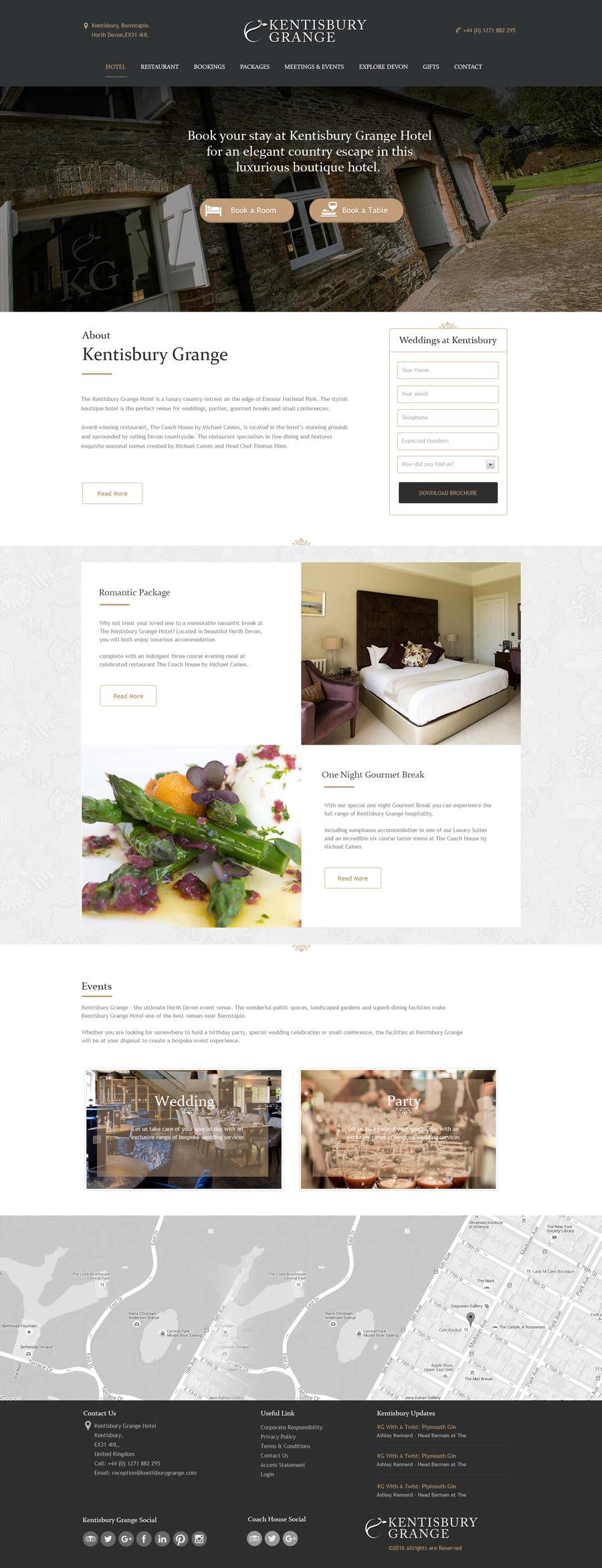 Design a website mockup for a luxury brand boutique hotel for Best boutique hotel brands