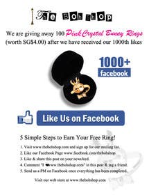 Graphic Design Contest Entry #6 for Design an Advertisement for 1000 Facebook Likes!