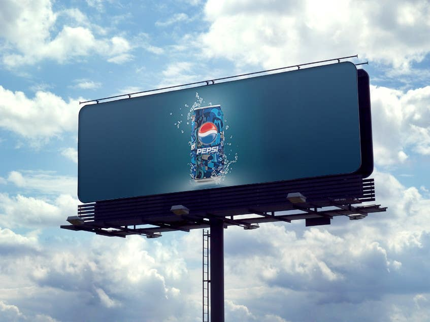 Contest Entry #1 for Design a 3D Advertisement Board of Pepsi