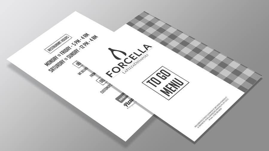 entry 4 by sudipduttakol for to go menu for restaurant freelancer