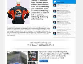#6 para Design a Website Mockup for one page website domain - www.CustomizedJacket.com por MiNdfr34k