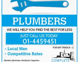 #3 for design 3 a5 leaflets for tradesmen such as plumbers by blackd51th