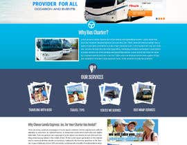 #16 para Design a Website and inside pages Mockup and Logo for Bus Rental Company por MagicalDesigner