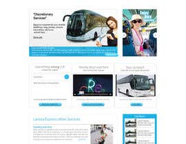 #14 para Design a Website and inside pages Mockup and Logo for Bus Rental Company por conceptcit