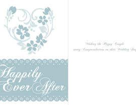 nº 8 pour Design some Stationery for a Wedding Greeting Card par esilverdesign