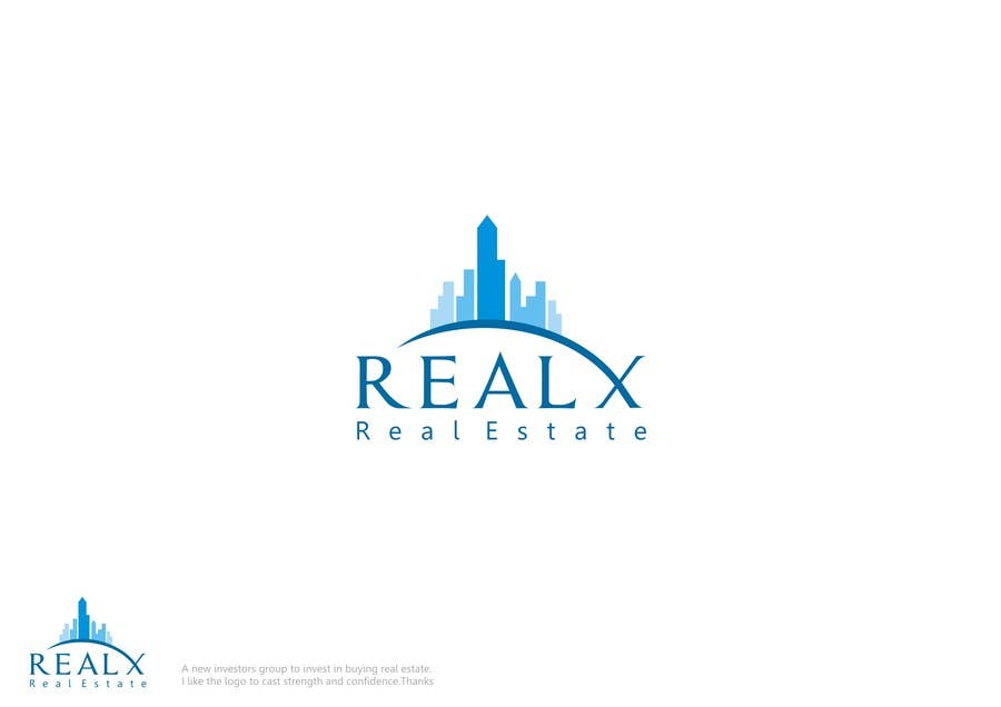 Participación en el concurso Nro.                                        24                                      para                                         REALX - Real estate brand Logo for new investors group