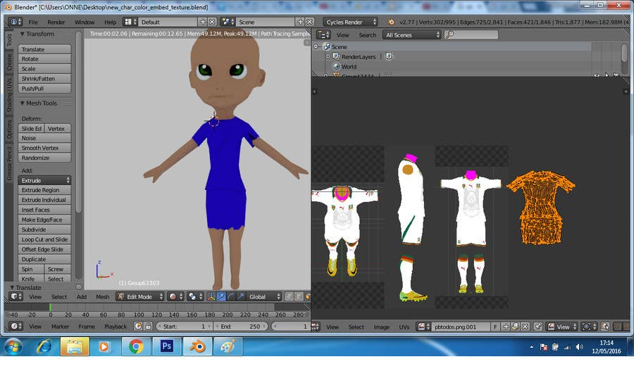 Game Character Design Apps : Entry #19 by onneti2013 for 3d character design for mobile soccer