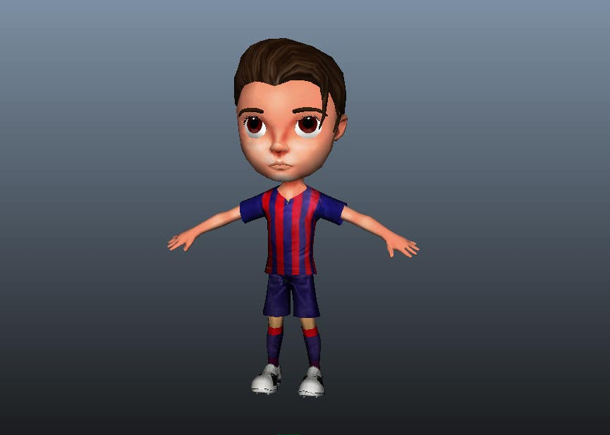 Game Character Design Apps : Entry #14 by dcjoshi75 for 3d character design for mobile soccer