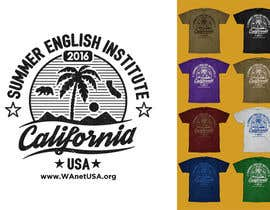 #53 para California English Camp back of t-shirt design por vickysmart