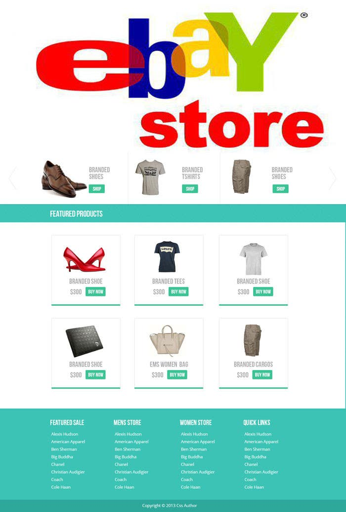 #27 for Build a ebay store and matching listing template, logo and facebook landing page by grapaa