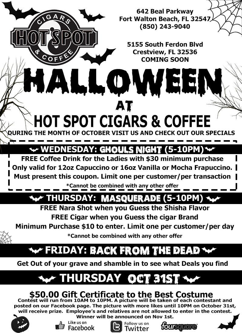 Konkurrenceindlæg #5 for Halloween Flyer annoucing specials for Cigar/Hookah Lounge